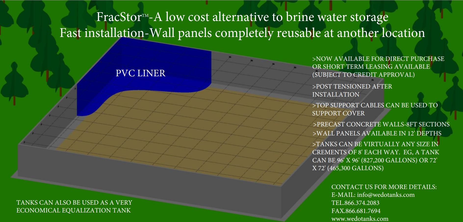 Fracking Brine Water Storage Tanks.